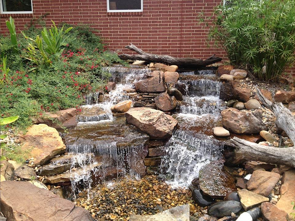 Landscape Pond & Waterfall Ideas For your Backyard | Plano ... on Backyard Stream Ideas id=74335