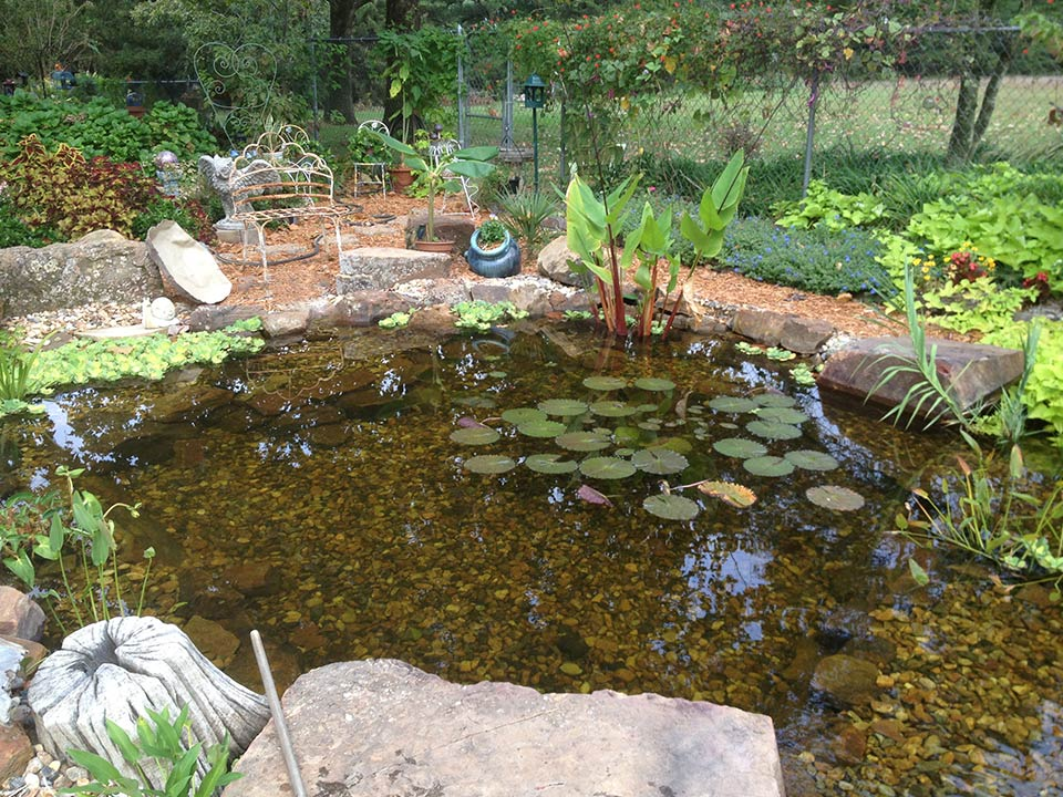 Landscape pond waterfall ideas for your backyard plano for Koi ponds and gardens
